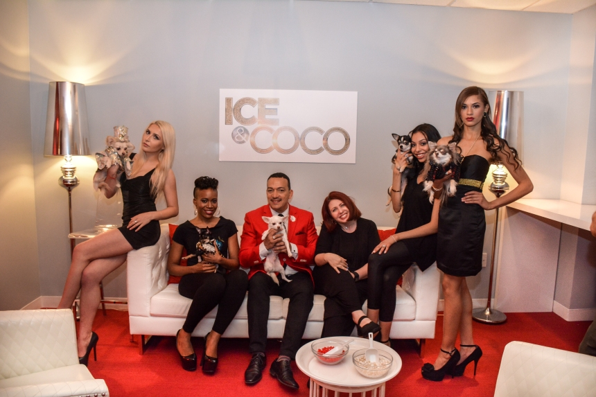 Pet Fashion Designer Anthony Rubio on the premier episode Ice And Coco Daytime Talk Show on August 3rd, 2015.