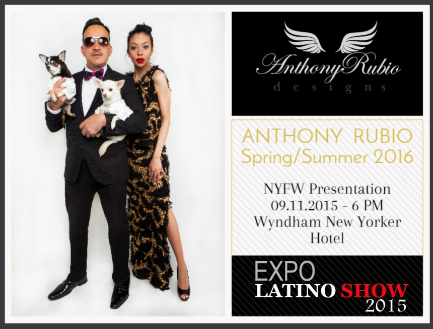 Anthony Rubio New York Fashion Week Spring 2016 Invite