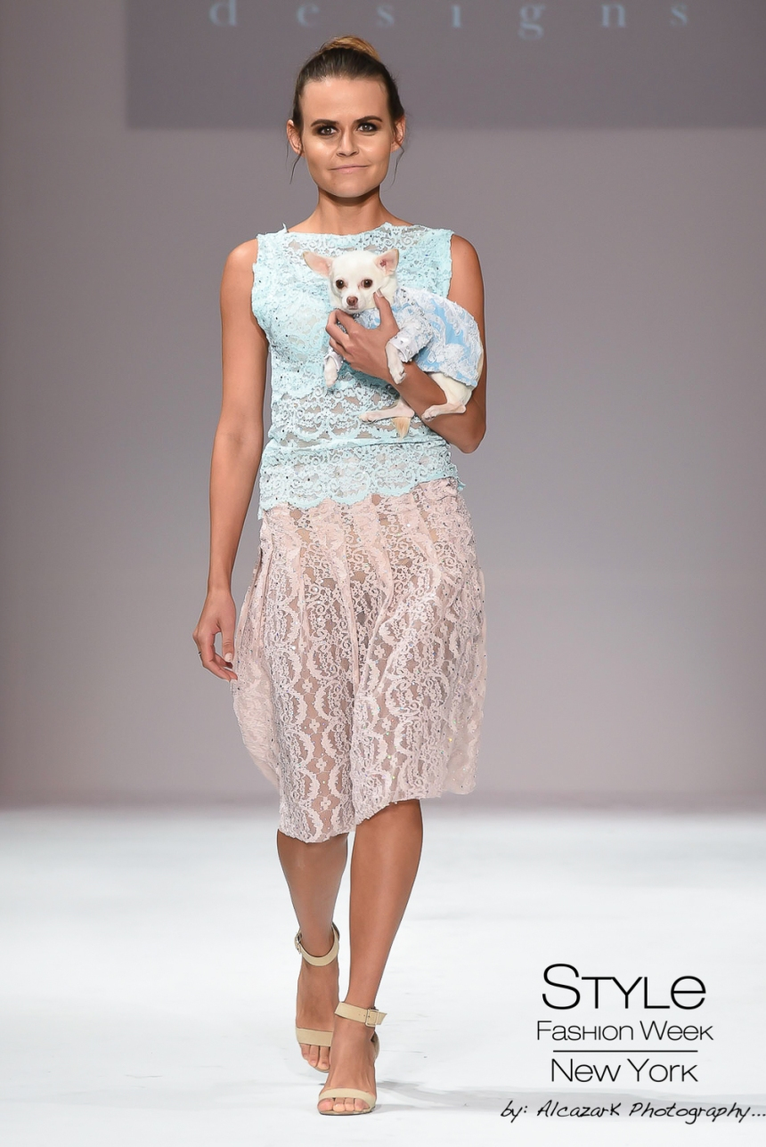 Anthony Rubio Spring/Summer 2016 - New York Fashion Week Model: Olya Smith Canine Model: Kimba Photo by: Ken Alcazar