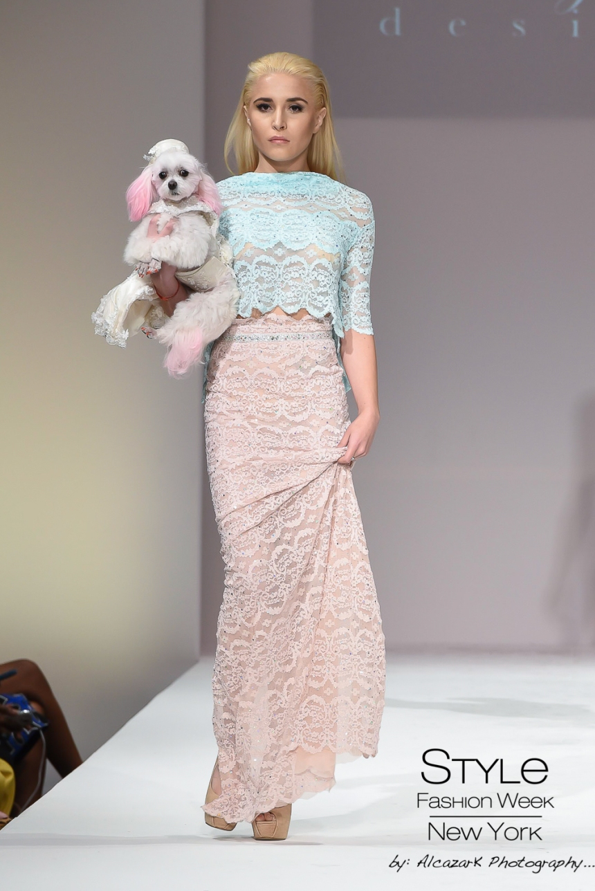 Anthony Rubio Spring/Summer 2016 - New York Fashion Week Model: Luybava Che Canine Model: ZZ Photo by: Ken Alcazar