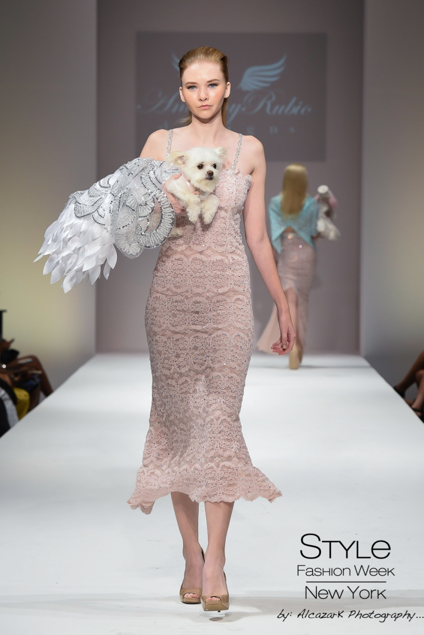 Anthony Rubio Spring/Summer 2016 - New York Fashion Week Model: Morgan Hollis Canine Model: Gizzy Photo by: Ken Alcazar