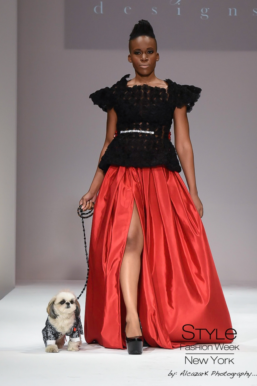 Anthony Rubio Spring/Summer 2016 - New York Fashion Week Model: Vivian Nwoke Canine Model: Marshall Photo by: Ken Alcazar