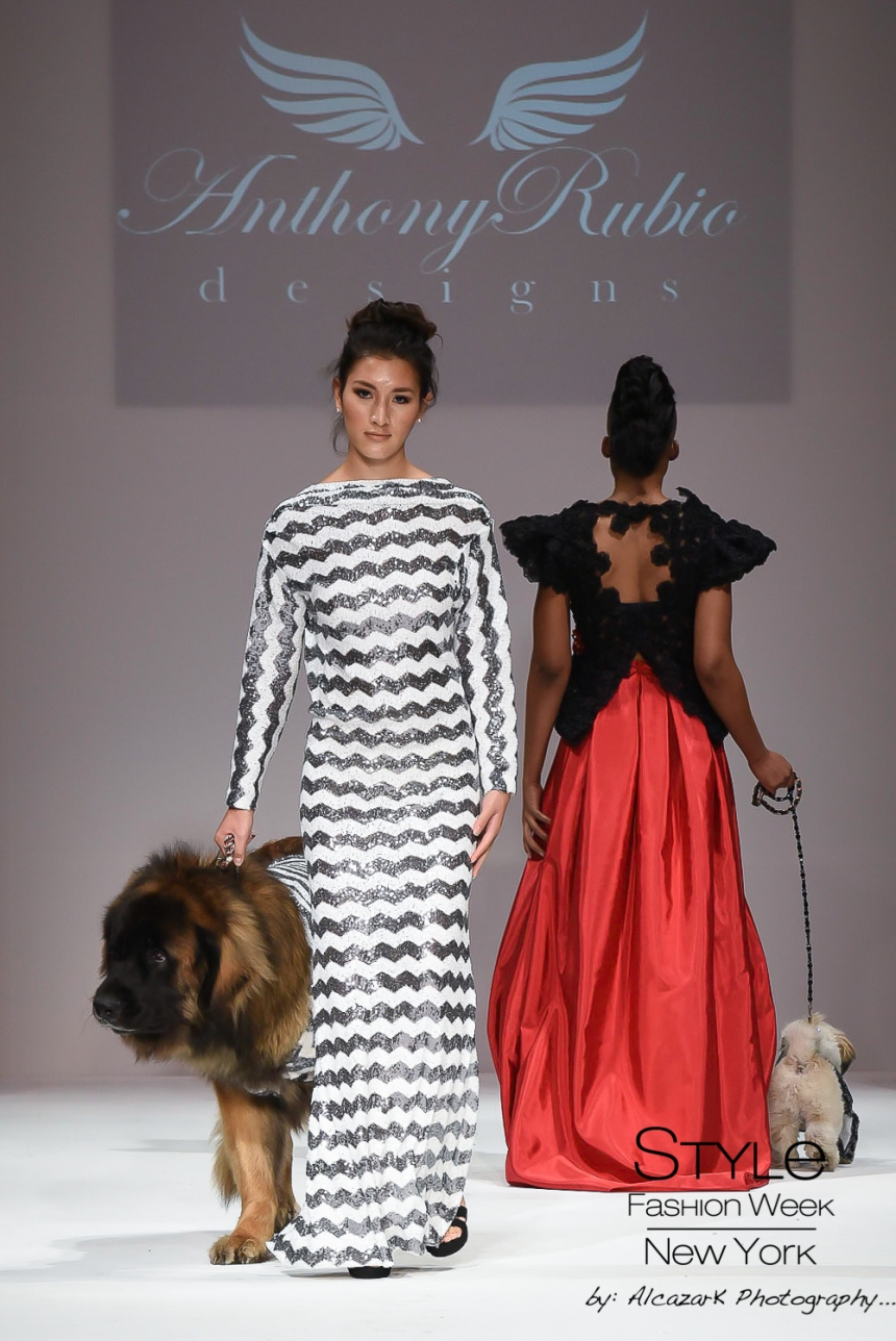 Anthony Rubio Spring/Summer 2016 - New York Fashion Week Model: Nicole Cuizon Canine Model: Magneto Photo by: Ken Alcazar