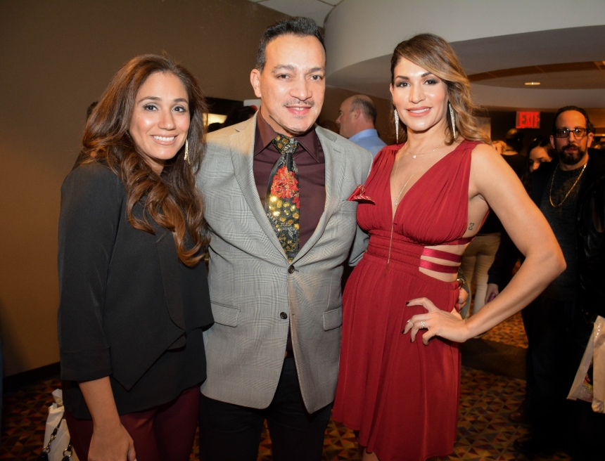 "Anthony Rubio, The Cover Girls at the premiere of a documentary film ""Legends of Freestyle"""