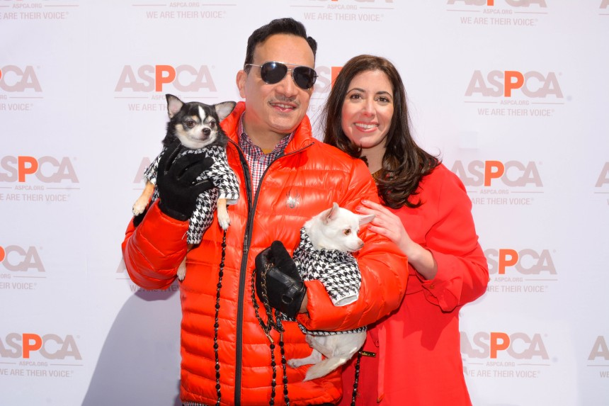 Anthony Rubio with Bogie and Kimba & Stephanie A. Mattera of Mayor's Alliance for NYC's Animals at Adoptapalooza