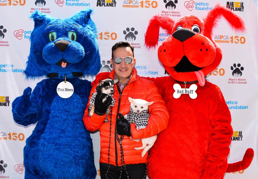 Anthony with Bogie and Kimba attend Mayor's Alliance for NYC's Animals' annual Adoptapalooza in Union Square Park