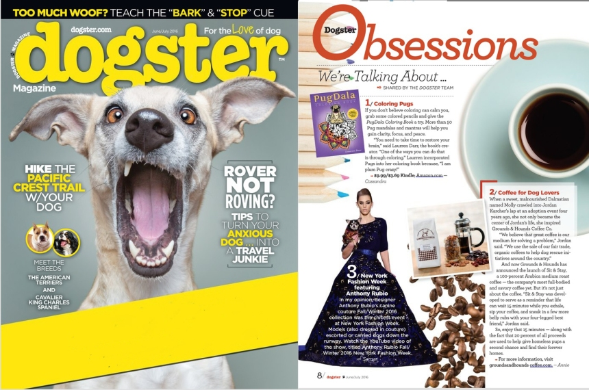 Anthony Rubio in Dogster Magazine.