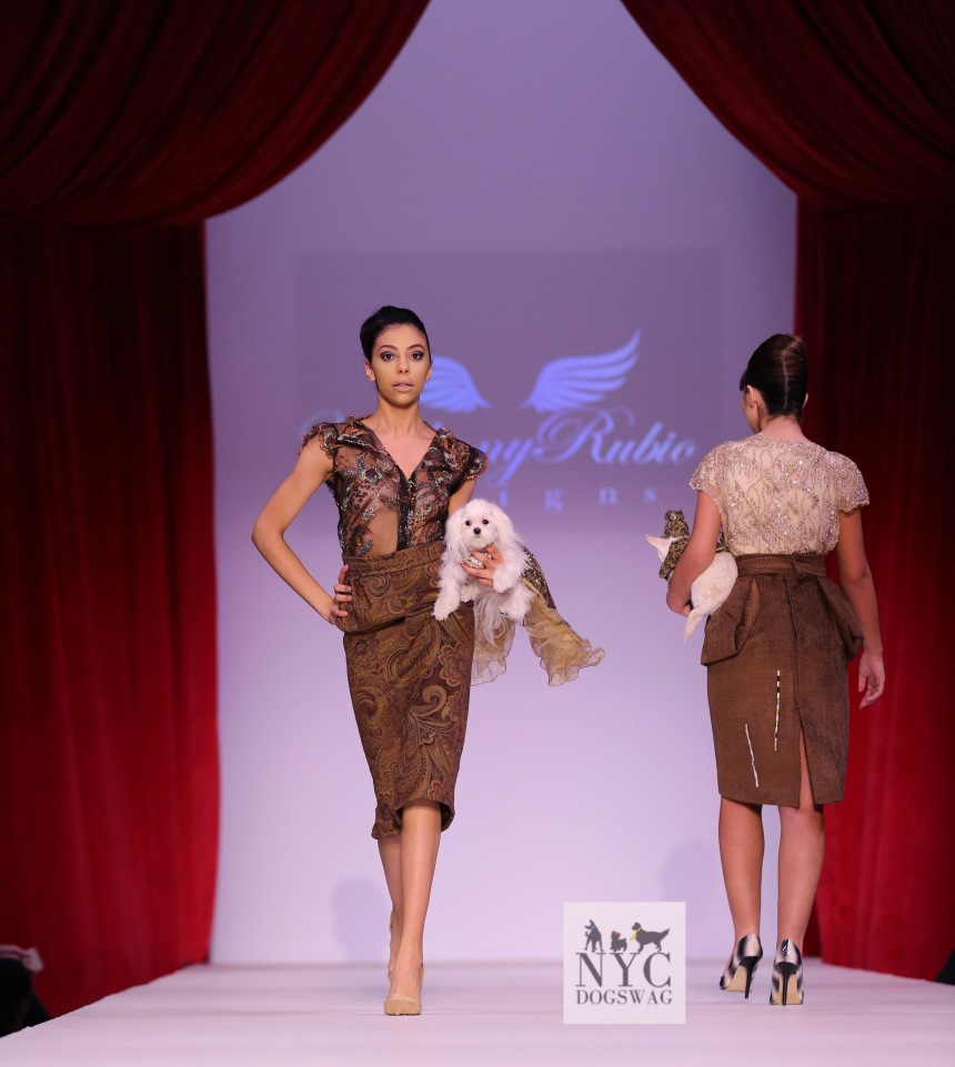 Anthony Rubio Fall/Winter 2016 - New York Fashion Week Women's Wear & Canine Couture Female Model: Elena Martinez Canine Model: Roxie Photo by: Jason Howard