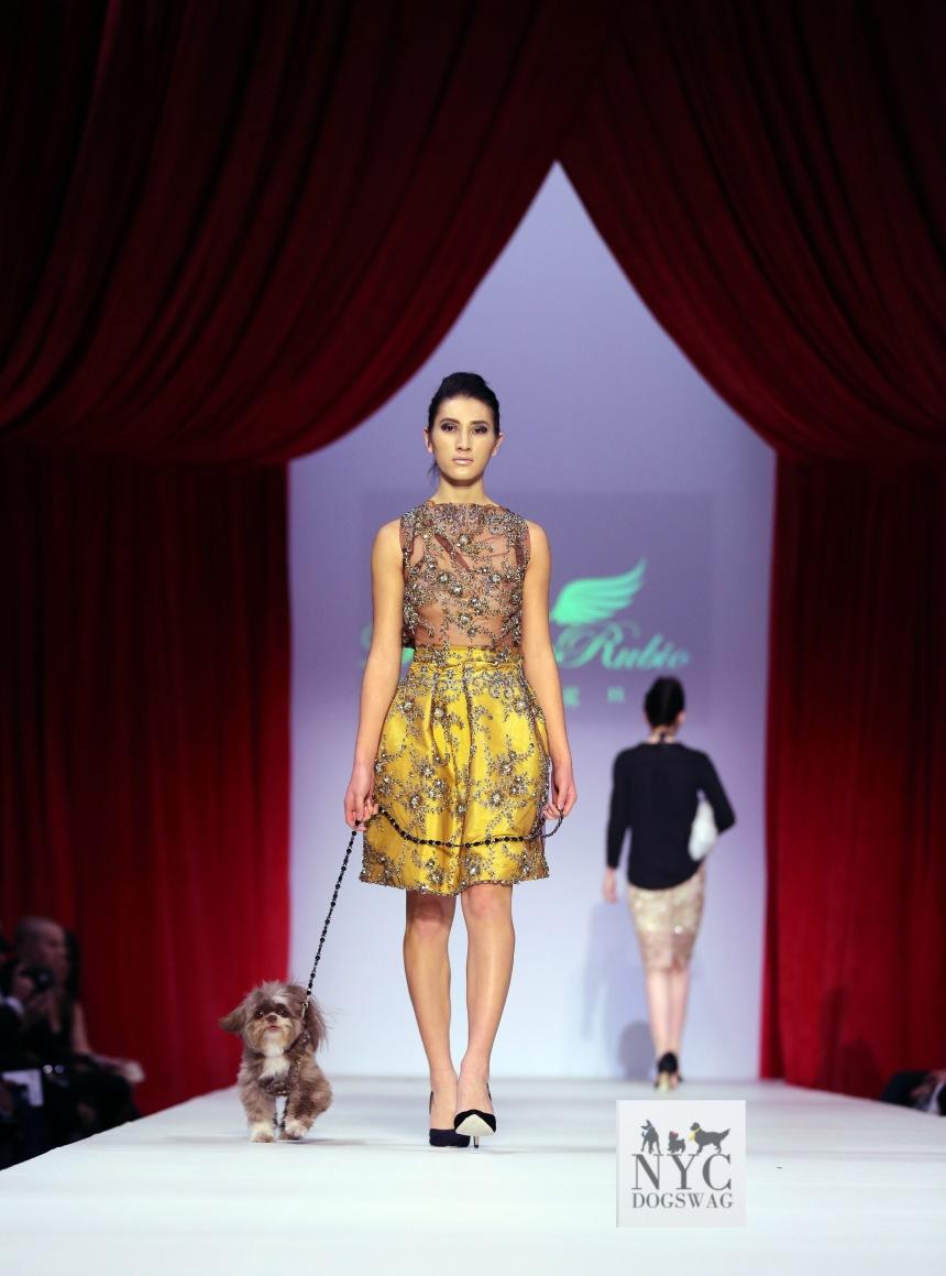 Anthony Rubio Fall/Winter 2016 - New York Fashion Week Women's Wear & Canine Couture Female Model: Nicole Cuizon Canine Model: Henry Photo by: Jason Howard