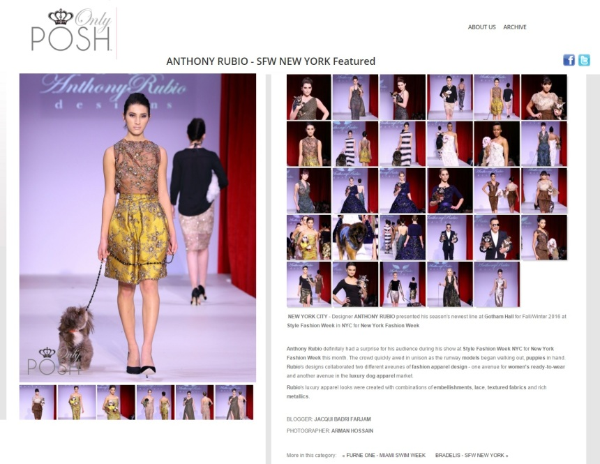 Anthony Rubio Designs feature on OnlyPosh