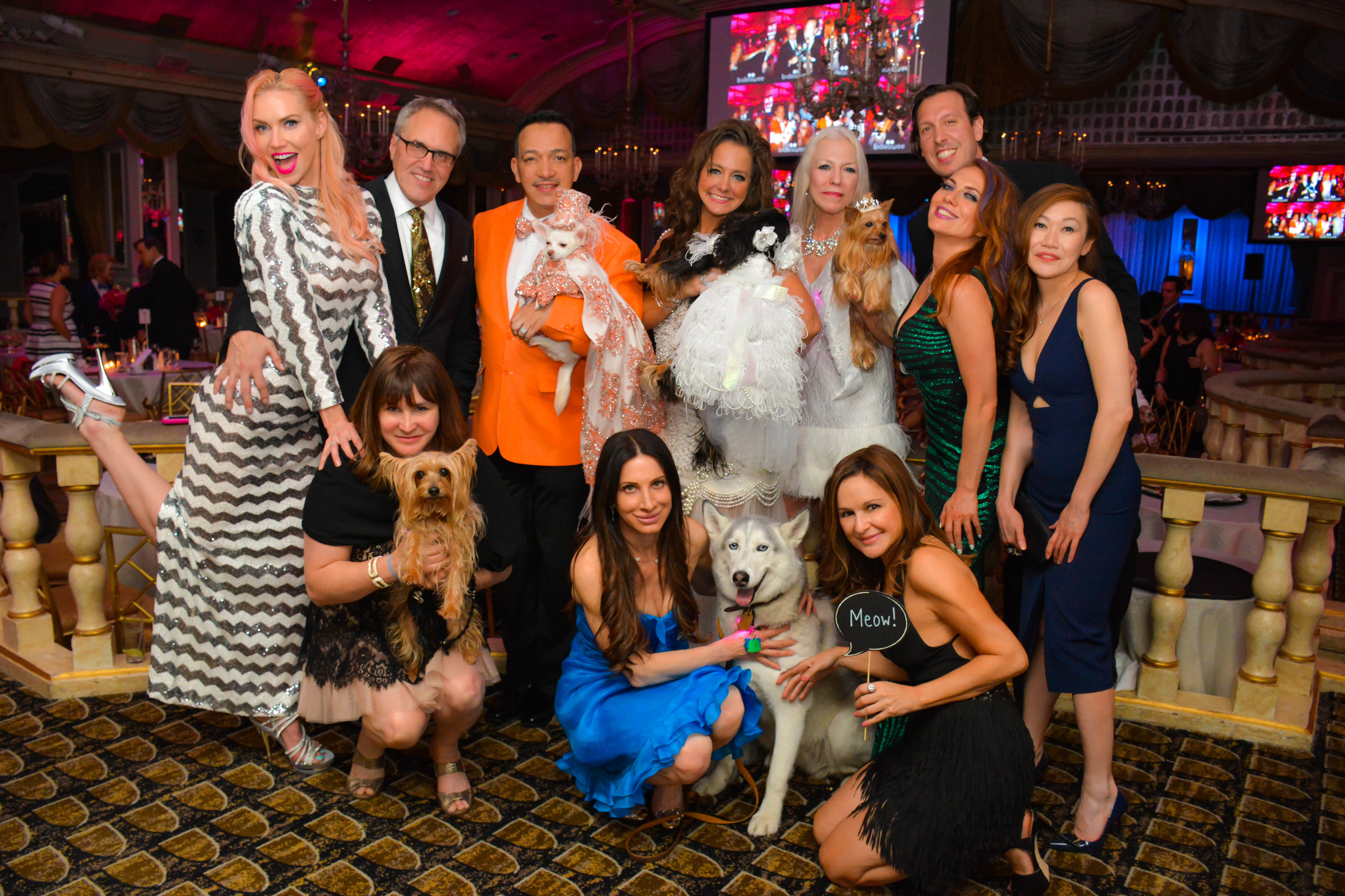 Anthony Rubio with Chihuahua Kimba attend the 2016 Bideawee Ball at The Pierre Hotel in New York City