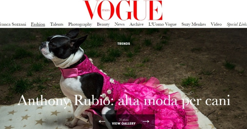 Anthony Rubio Featured in Vogue Italia