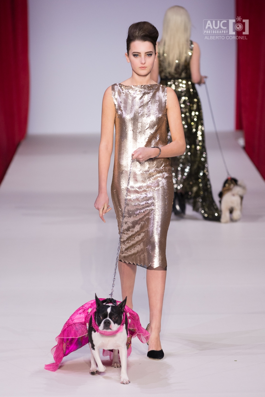 Anthony Rubio Fall/Winter 2016 - New York Fashion Week Women's Wear & Canine Couture Female Model: Josie Giordano Canine Model: Rita Photo by: Alberto Coronel