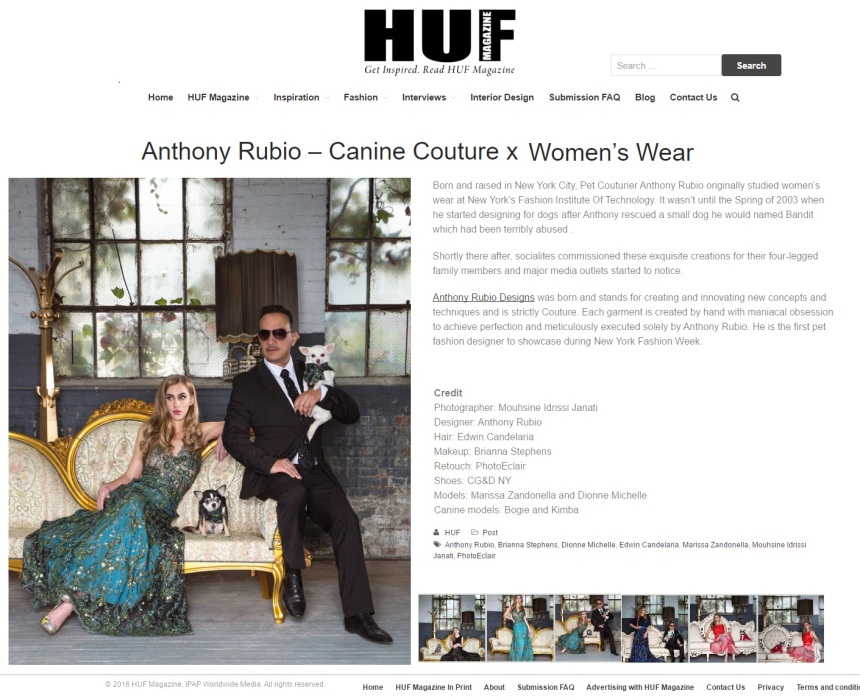 Fashion Editorial with Women's Wear and Canine Couture by Anthony Rubio