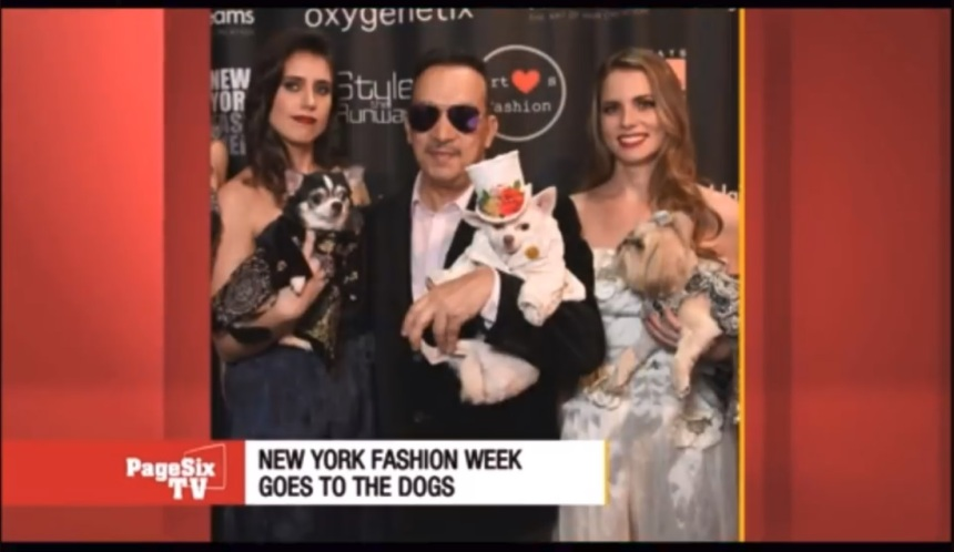 Anthony Rubio featured in a segment on Page Six TV covering his New York Fashion Week show