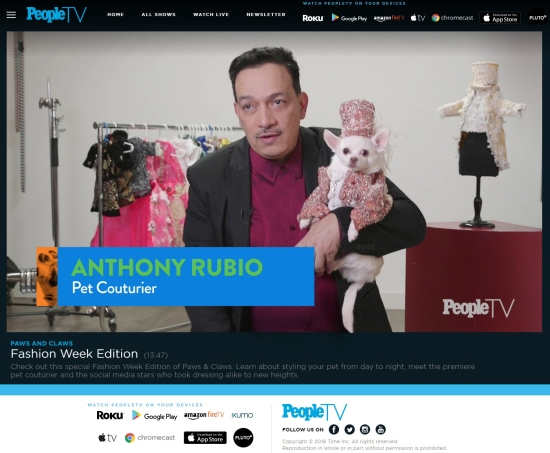 Anthony Rubio Designs In PEOPLE Magazine TV!