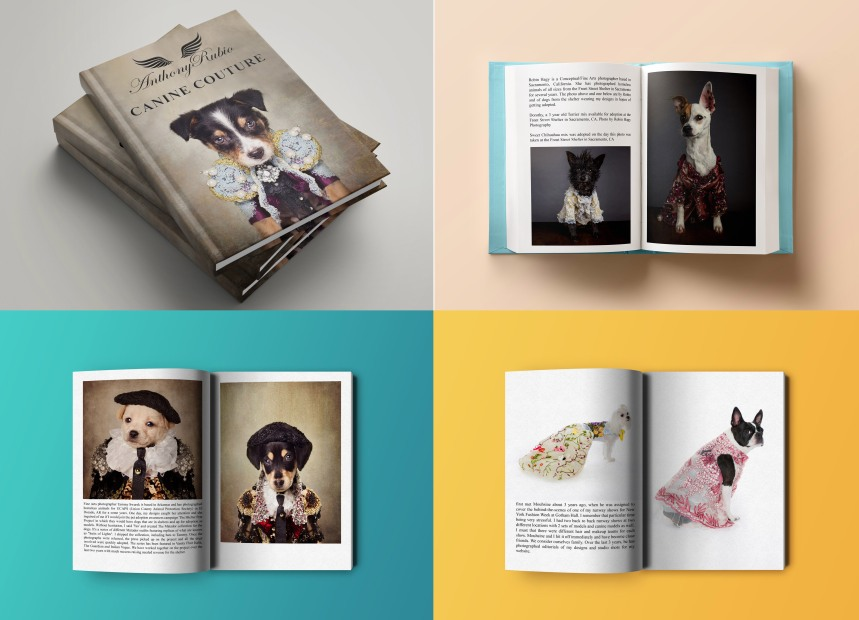 Anthony Rubio Canine Couture Coffee Table Book Mock-up