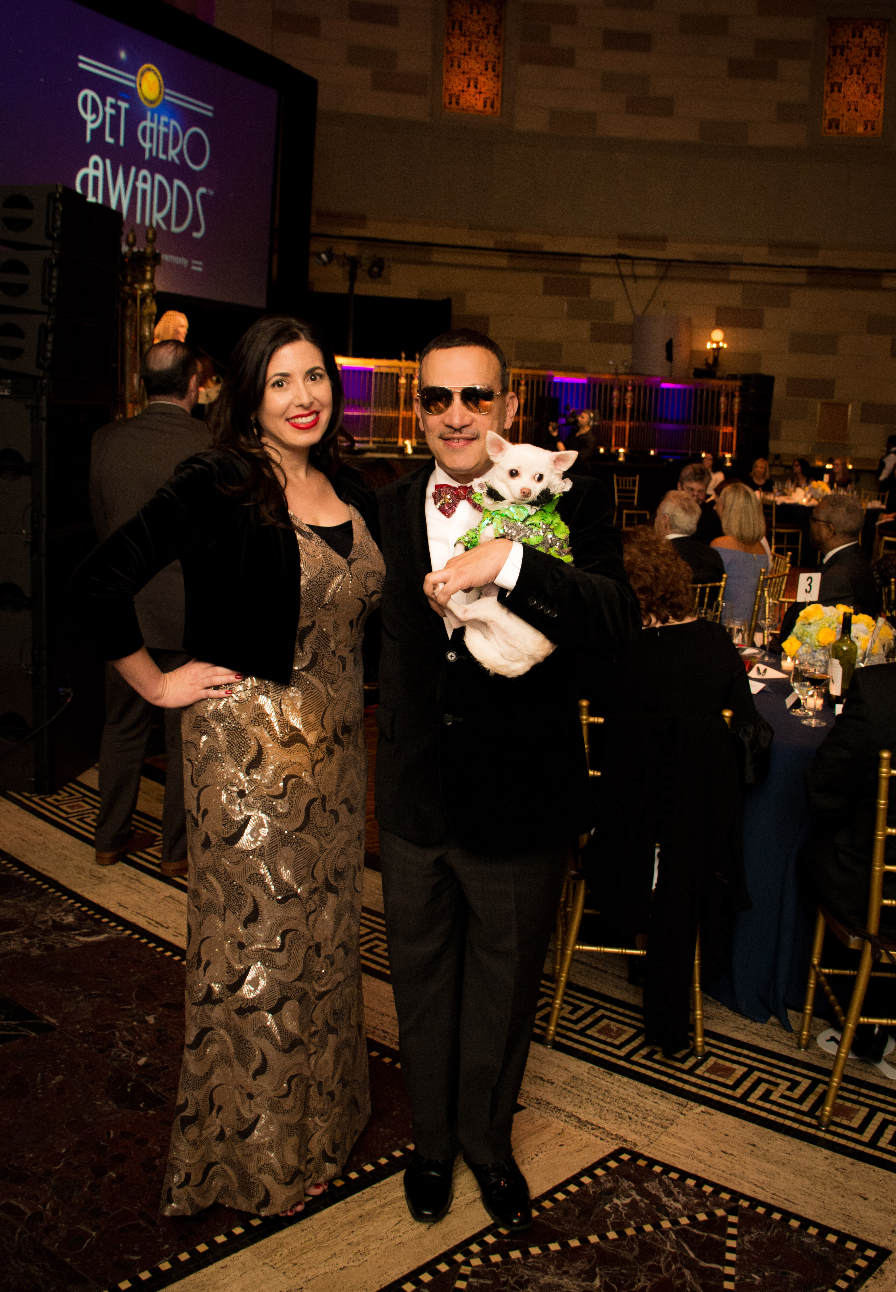 Anthony Rubio with Chihuahua Kimba attends The 6th Annual Pet Hero Awards