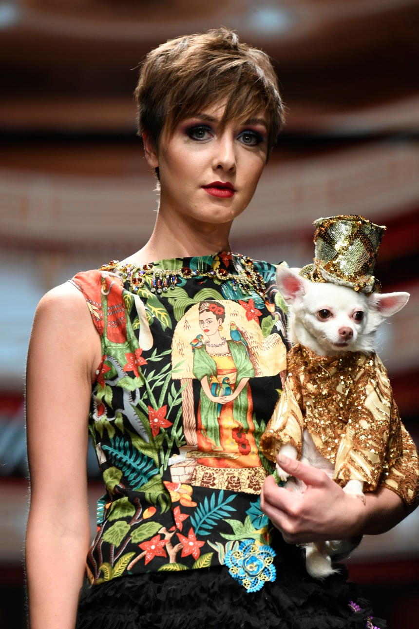Anthony Rubio Women's Wear and Canine Couture Los Angeles Fashion Week Photo by Arun NevaderforGetty Images