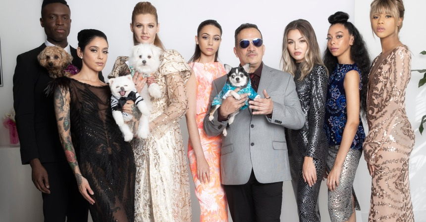 Anthony Rubio Women's Wear and Canine Couture New York Fashion Week Virtual Runway Show Photo by Yoni Levy at Tals Studio